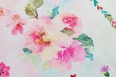 画像12: 「移動中」はぎれ70x50:クール・ド・プランタン(ホワイトベースピンク・ブルー) /90g (12)