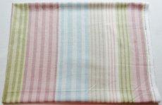 画像2: 「即納F」はぎれ68×50:バーリントン(ストライプ、ヴィンテージ、ピンク・水色・グリーン)/80g (2)