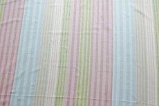 画像3: 「即納F」はぎれ68×50:バーリントン(ストライプ、ヴィンテージ、ピンク・水色・グリーン)/80g (3)