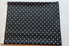 画像2: 「即納F」はぎれ68×50:フルストップ(ドット、黒)/85g (2)