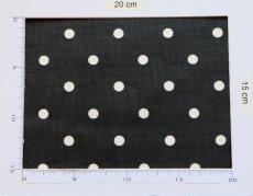 画像5: 「即納F」はぎれ68×50:フルストップ(ドット、黒)/85g (5)