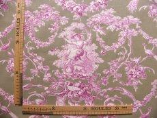 画像3: 「即納J/F」はぎれ70×50:ブランコに乗った少女(麻色ベース紫) /95g (3)