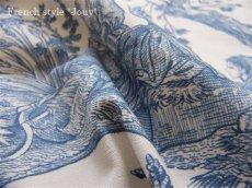 画像3: 「取寄せ」布:復刻版tdj四季の喜び(トワル、白ベースブルー)長さ50cm単位 /160g (3)