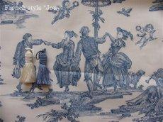 画像5: 「取寄せ」布:復刻版tdj四季の喜び(トワル、白ベースブルー)長さ50cm単位 /160g (5)