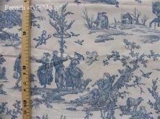 画像6: 「取寄せ」布:復刻版tdj四季の喜び(トワル、白ベースブルー)長さ50cm単位 /160g (6)