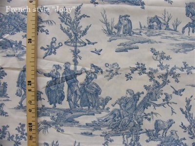 画像2: 「取寄せ」布:復刻版tdj四季の喜び(トワル、白ベースブルー)長さ50cm単位 /160g