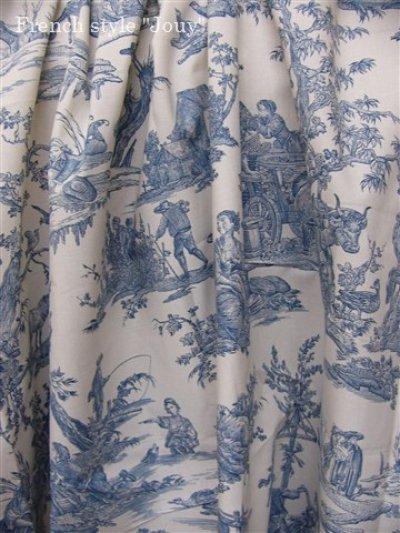 画像3: 「取寄せ」布:復刻版tdj四季の喜び(トワル、白ベースブルー)長さ50cm単位 /160g