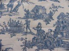 画像8: 「取寄せ」布:復刻版tdj四季の喜び(トワル、白ベースブルー)長さ50cm単位 /160g (8)