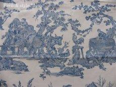 画像10: 「取寄せ」布:復刻版tdj四季の喜び(トワル、白ベースブルー)長さ50cm単位 /160g (10)