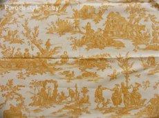 画像2: 「取寄せ」布:復刻版tdj四季の喜び(トワル、白ベースイエロー)長さ50cm単位 /160g (2)