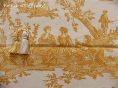 画像4: 「取寄せ」布:復刻版tdj四季の喜び(トワル、白ベースイエロー)長さ50cm単位 /160g (4)