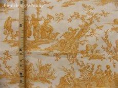 画像5: 「取寄せ」布:復刻版tdj四季の喜び(トワル、白ベースイエロー)長さ50cm単位 /160g (5)