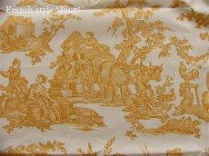 画像7: 「取寄せ」布:復刻版tdj四季の喜び(トワル、白ベースイエロー)長さ50cm単位 /160g (7)