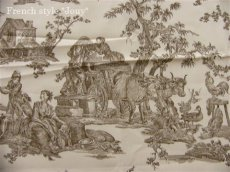 画像10: 「即納J/F」はぎれ75x50:復刻版tdj四季の喜び(トワル、白ベースブラウン) /80g (10)