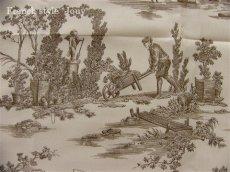 画像11: 「即納J/F」はぎれ75x50:復刻版tdj四季の喜び(トワル、白ベースブラウン) /80g (11)