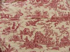 画像4: 「取寄せ」布:復刻版tdj四季の喜び(トワル、白ベース赤)長さ50cm単位 /160g (4)