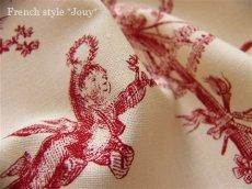 画像5: 「取寄せ」布:復刻版tdj四季の喜び(トワル、白ベース赤)長さ50cm単位 /160g (5)
