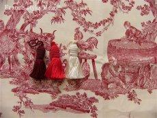 画像6: 「取寄せ」布:復刻版tdj四季の喜び(トワル、白ベース赤)長さ50cm単位 /160g (6)