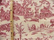 画像2: 「取寄せ」布:復刻版tdj四季の喜び(トワル、白ベース赤)長さ50cm単位 /160g (2)