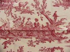 画像9: 「取寄せ」布:復刻版tdj四季の喜び(トワル、白ベース赤)長さ50cm単位 /160g (9)