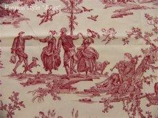 画像3: 「取寄せ」布:復刻版tdj四季の喜び(トワル、白ベース赤)長さ50cm単位 /160g (3)