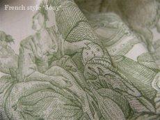 画像3: 「取寄せ」布:復刻版tdj四季の喜び(トワル、白ベースグリーン)長さ50cm単位 /160g (3)