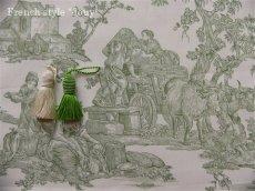 画像4: 「取寄せ」布:復刻版tdj四季の喜び(トワル、白ベースグリーン)長さ50cm単位 /160g (4)
