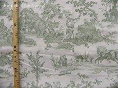 画像5: 「取寄せ」布:復刻版tdj四季の喜び(トワル、白ベースグリーン)長さ50cm単位 /160g (5)