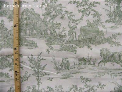 画像2: 「取寄せ」布:復刻版tdj四季の喜び(トワル、白ベースグリーン)長さ50cm単位 /160g