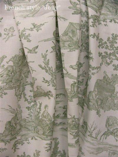 画像3: 「取寄せ」布:復刻版tdj四季の喜び(トワル、白ベースグリーン)長さ50cm単位 /160g