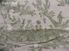 画像7: 「取寄せ」布:復刻版tdj四季の喜び(トワル、白ベースグリーン)長さ50cm単位 /160g (7)