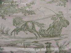 画像2: 「取寄せ」布:復刻版tdj四季の喜び(トワル、白ベースグリーン)長さ50cm単位 /160g (2)