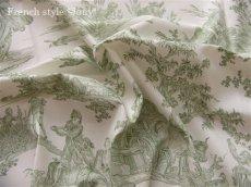画像9: 「取寄せ」布:復刻版tdj四季の喜び(トワル、白ベースグリーン)長さ50cm単位 /160g (9)