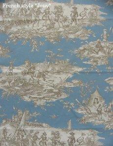 画像3: 「移動中」はぎれ70×50:水の物語(ブルーグレイベース) /95g (3)