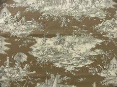 画像2: 「即納F」はぎれ70×50:水の物語(トープ) /95g (2)