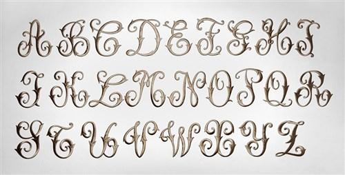 画像1: 「J即納」廃盤AD刺繍飾り:アーベーセデール・リス9×9(トープ) (1)