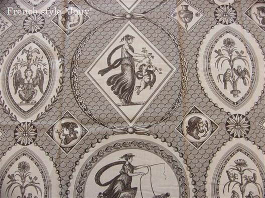 画像1: 「即納J」布:Casal古代の光景(3:チョコレート)長さ50cm単位 /130g (1)