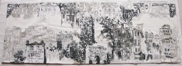 画像1: 「即納J」 特別サイズ140×50:モンマルトルからの眺め(グレイ) /195g (1)