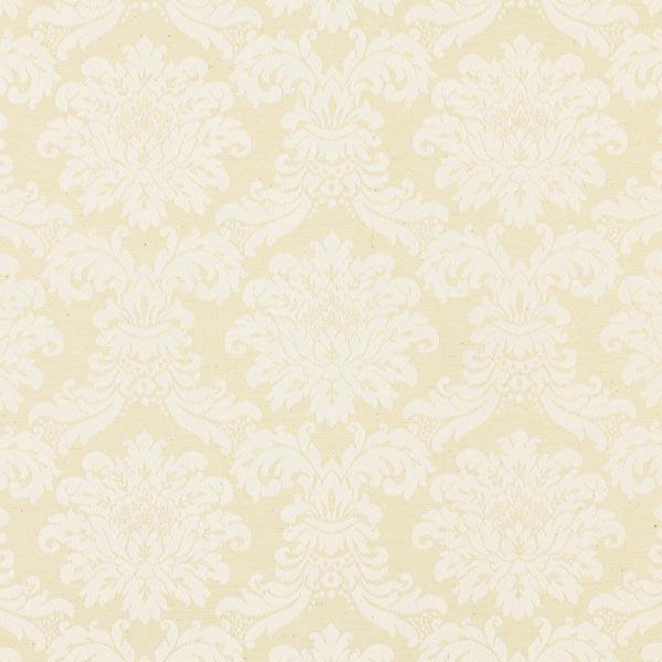 画像1: 「即納J」はぎれ70x50:レイナ(ダマスク、ジャカード、クリーム)/90g (1)