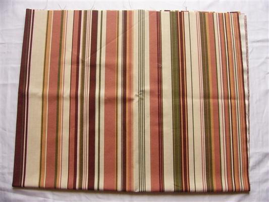画像1: 「即納J」はぎれ70x50:ストライプ・クラシコ(ライトブラウン・アイボリー・グリーン) /80g (1)