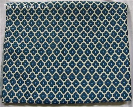 画像1: 「即納F」はぎれ70×50:ビッグバン(ブルー・リバーシブル) /190g (1)