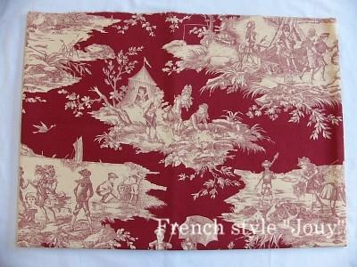 画像1: 「即納J」はぎれ70×50:水の物語(赤ベース) /95g (1)