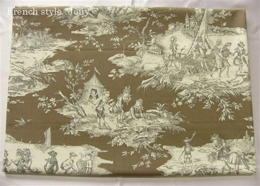 画像1: 「移動中」はぎれ70×50:水の物語(トープ) /95g (1)
