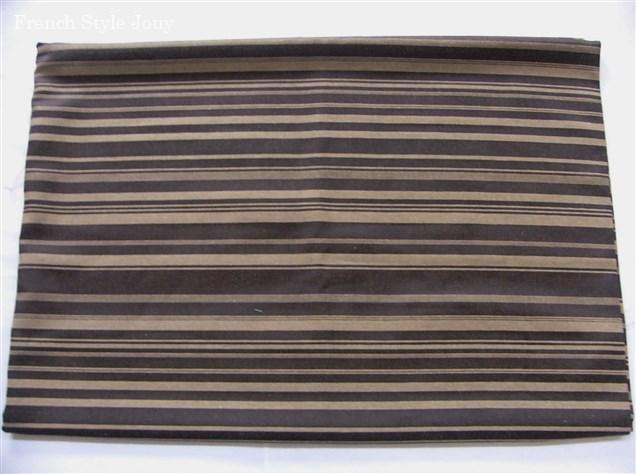 画像1: 「即納F」廃盤はぎれ70x50:ラシオ(ストライプ、黒ベースベージュ) /100g (1)