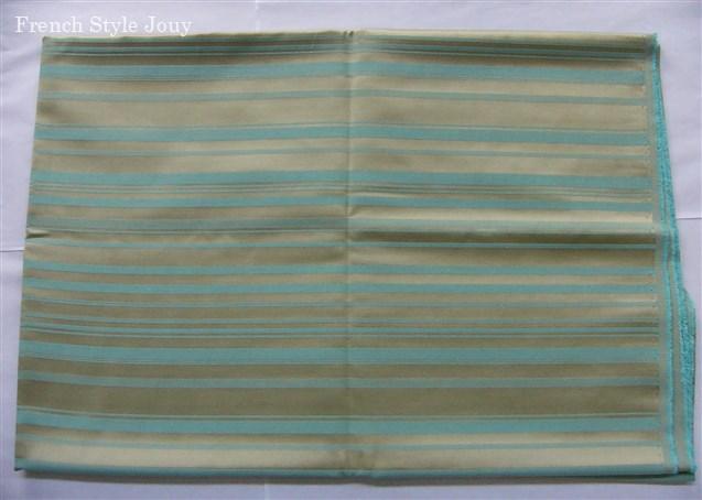 画像1: 「即納J/即納F」廃盤はぎれ70x50:ラシオ(ストライプ、クリームベース水色) /100g (1)