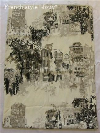 画像1: 「即納F」はぎれ70×100:モンマルトルからの眺め(グレイ) /195g (1)