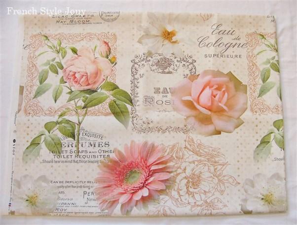 画像1: 「即納J」廃盤はぎれ80x60:香水・花(デザイン大・ピンク) /130g (1)