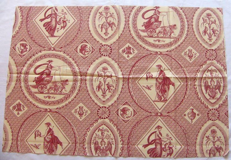 画像1: 「即納J」はぎれ75x50:Casal古代の光景(1:赤) /65g (1)