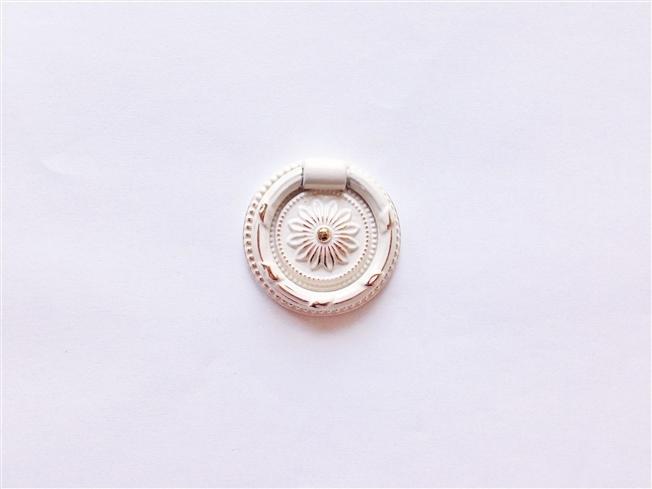 画像1: 「即納J」取っ手:紋章・ルイ16世(直径3.8cm、ホワイト&ゴールド)/45g (1)