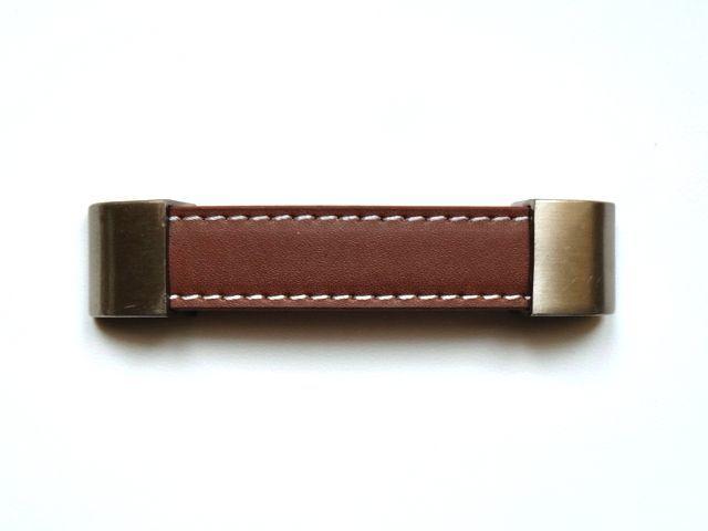 画像1: 「J即納/F在庫」取っ手:合皮革11.5cm(ブラウン) /60g (1)